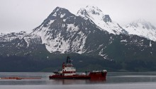 An oil tanker in Prince William Sound. | Photo by rickz