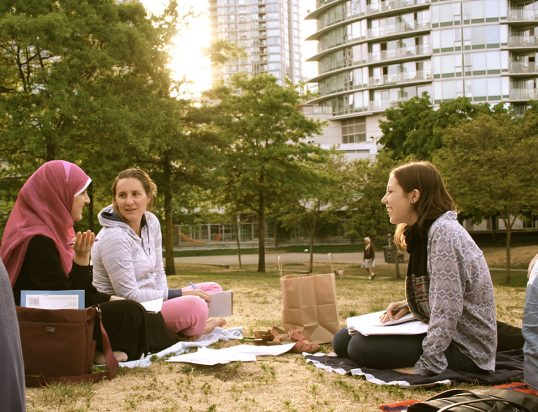 Conversation partners at a free Arabic-English language exchange for women | Photo by Mary Leighton