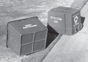 Boite de recyclage en francais et en anglais