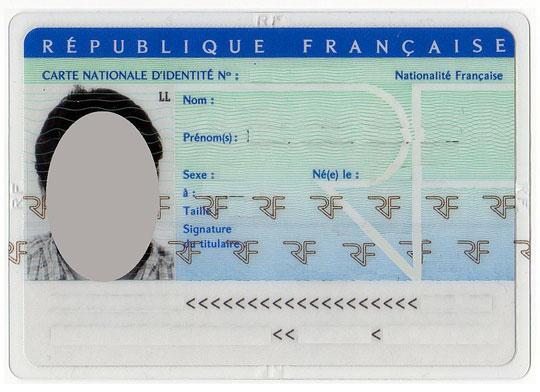Carte d'Identité Nationale Française