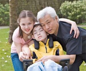 Eric Wong en famille, avec sa fille Leilan et son fils Gabriel