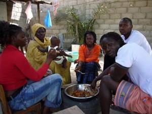 Repas familial à la sénégalaise