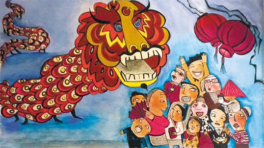 The Year of the Dragon - Illustration par Diana Lippolis