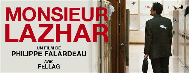Le film Monsieur Lazhar, nominé aux Oscars, sera projeté au 18èmes Rendez-vous du cinéma québécois et francophone