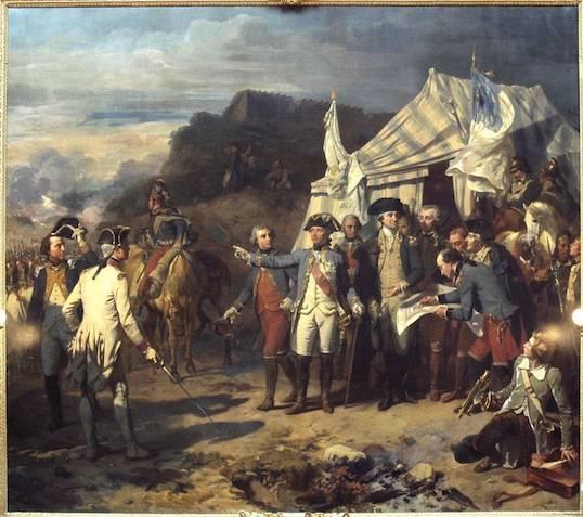 La Prise de Yorktown par Louis-Charles-Auguste Couder (1836).
