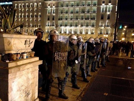 La police anti-émeutes grecque.