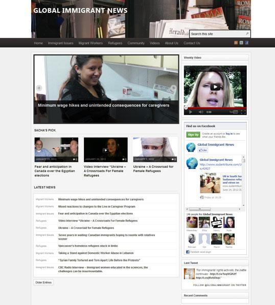 Le website www.globalimmigrantnews.com
