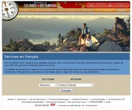 Site touristique de la Société du développement économique de la  Colombie-Britannique à tourisme-cb.com.