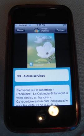 Application pour mobiles.
