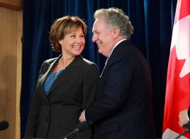 Mme. Christy Clark et Mr. Jean Charest
