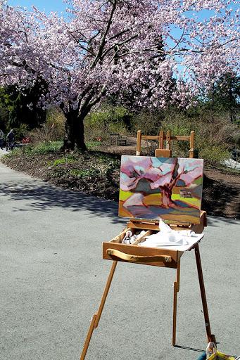 L'atelier de peinture en plein air d'Alison Watt | Photo par Magalie L'Abbé, Flickr