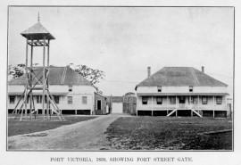 Le Fort victoria en 1859. Photo par Project Gutenberg