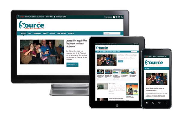 Nouveau site web de La Source
