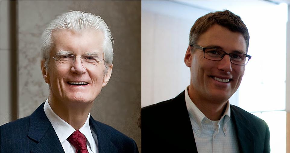 Art Phillips (à gauche), ancien maire de Vancouver, et Gregor Robertson (à droite), actuel maire de Vancouver. |  Photos par Greg Ehlers (à gauche) et Ariane Colenbrande (à droite)