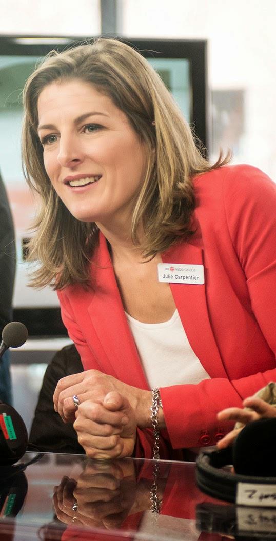 Julie Carpentier, chef d'antenne du Téléjournal de Colombie-Britannique. | Photo par Julie Carpentier