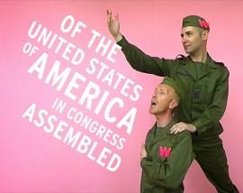 La « vidéo musicale » intitulée Patriotic (2005), signée Pascal Lièvre et Benny Nemerofsky Ramsay. | Photo gracieuseté des artistes