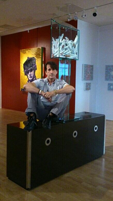L'artiste Foster Eastman.|Photo par Noelle Vannier