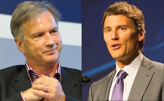 Kirk LaPointe, candidat NPA, et Gregor Robertson, l'actuel maire de Vancouver. | Photo par Jason W. (au gauche) et BCNDP (au droit)
