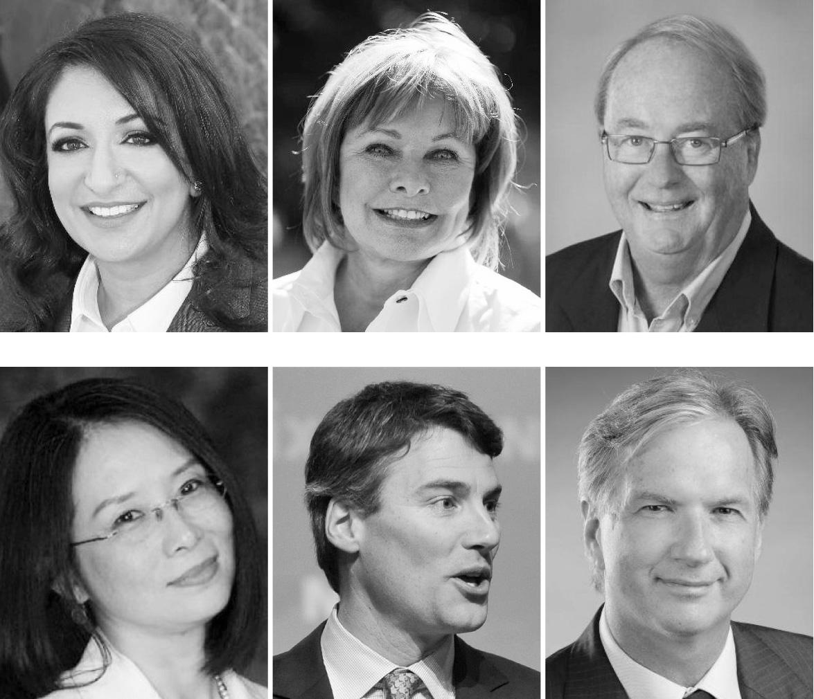 Les candidats à Surrey : Barinder Rasode, Linda Hepner et Doug McCallum. Les candidats à Vancouver : Meena Wong, Gregor Robertson et Kirk Lapointe.