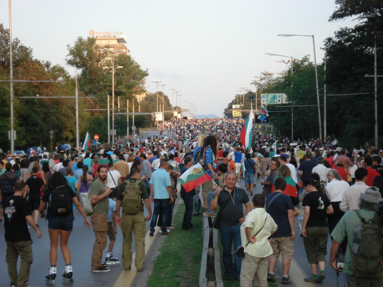 Manifestations à Sofia en Bulgarie juin 2013 | Photo de Josée Malenfant