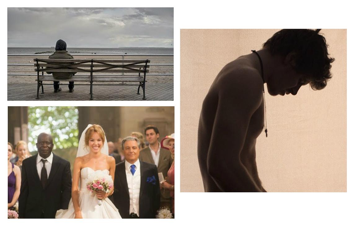Trois films présentés aux Rendez-vous du cinéma québécois et francophone : Des Étoiles (en haut), L'amour au temps de la guerre civile (en bas à gauche) et Qu'est-ce-qu'on a fait au Bon Dieu ? (en bas à droite).