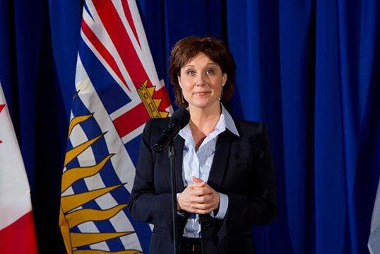 Christy Clark, première ministre de la Colombie-Britannique. | Photo de la province de la Colombie-Britannique