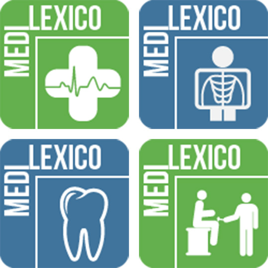 Les logos des différentes applications Medi-lexico.   Photos de College Educacentre