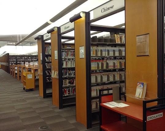 La section chinoise de la Vancouver Public Library, Central Branch. | Photo par Laura R. Copes