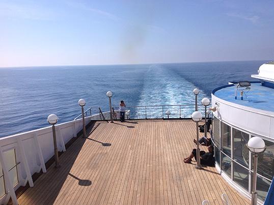 Sur un ferry italien | Photo par Pascal Guillon