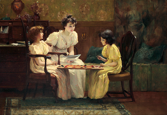A Friendly Game de Francis Coates Jones (1857–1932). | Photo par Uno Langmann Limited