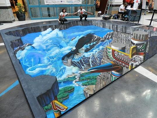 Photo de Victoria Chalk Art Festival | Fresque 3D au Fetival international de dessin à la craie de Victoria