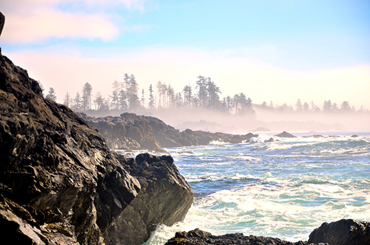 Foulard Rochers d'Ucluelet par Kemp Edwards. | Photo par Kemp Edwards
