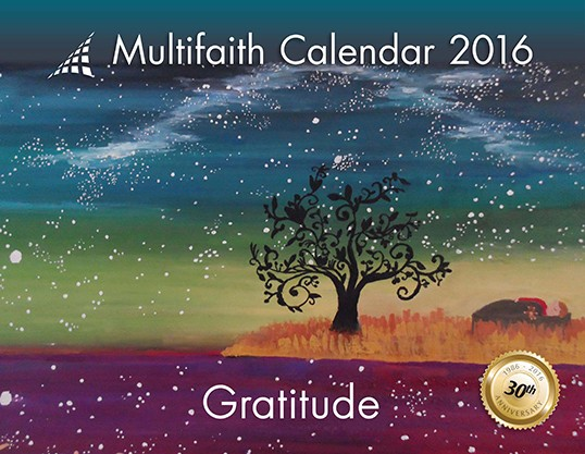 Le calendrier multiconfessionnel 2016.