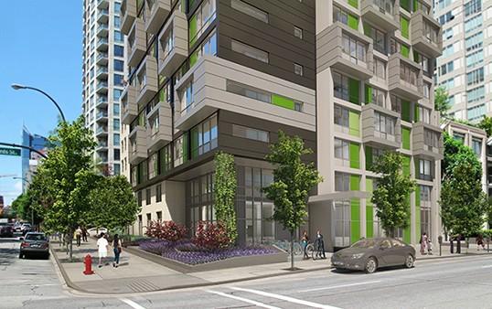Le projet proposé de Jubilee House sur la rue Helmcken. | Photo de Brenhill Development
