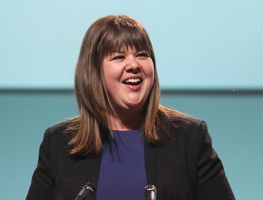 Rebecca Blaikie, présidente du NPD. | Photo par Joel Duff