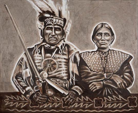 Omega Kwe Shingwauk. | Peinture par Janice Toulouse Shingwauk