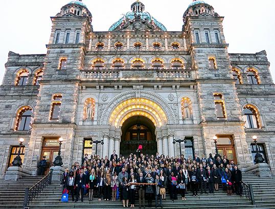 Parlement jeunesse francophone de la C.-B. | Photo de CJFCB