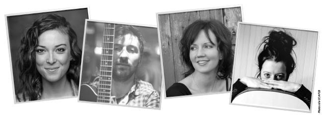 Participants au Pacifique en chanson: Éléa Saunier, Frédéric Étanchaud, Pascale Goodrich-Black et Sophie Villeneuve. | Photos de CC AFCB