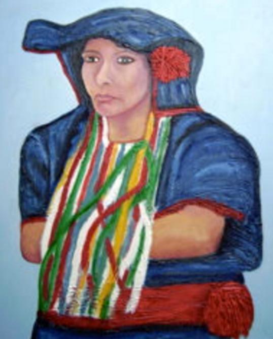 La femme du Chiapas de l'artiste connue Rita Leroux. | Photo de Rita Leroux