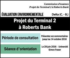 Projet du Terminal 2 à Roberts Point