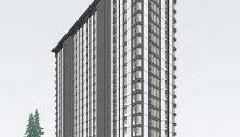 Brock Commons est une nouvelle residence universitaire à UBC qui sera l'un des immeubles en bois les plus hauts au monde une fois achevé. | Photo d'UBC