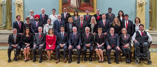 Le Cabinet du Premier ministre Justin Trudeau est formé de 15 femmes sur un total de 31 membres. | Photo de Environment and Climate Change Canada
