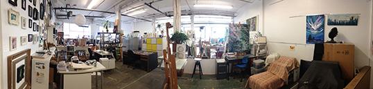 Le Studio A à laArtsFactory Society,un espace de création partagé. | Photo par Clémence Beurton