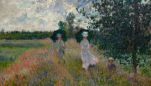 En promenade près d'Argenteuil par Claude Monet, 1875. Musée Marmottan Monet, Paris. | Photo par Bridgeman Giraudon/Press
