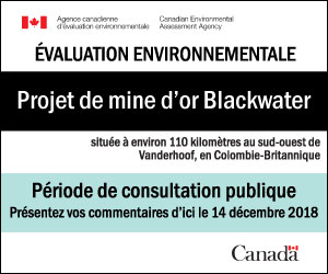 Projet de mine d'or Blackwater