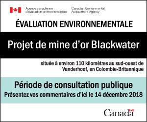 Projet de mine d'or Blackwater