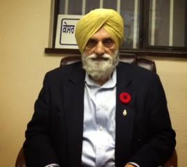 Sohan Singh Deo, président de la Khalsa Diwan Society. Photo par Alice Dubot