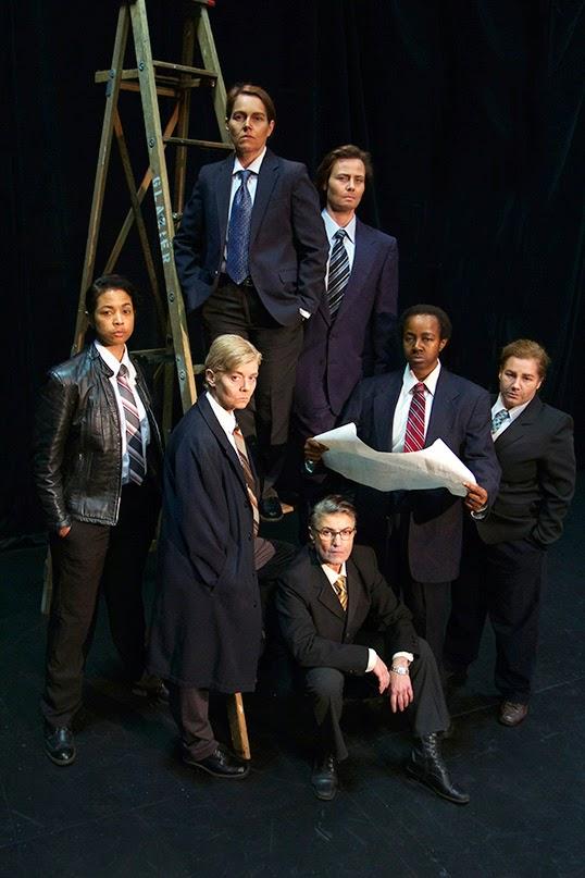 La troupe de Glengarry Glen Ross.   Photo de Megan Verhey