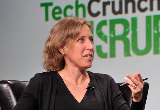 Susan Wojcicki, CEO de YouTube.   Photo de TechCrunch