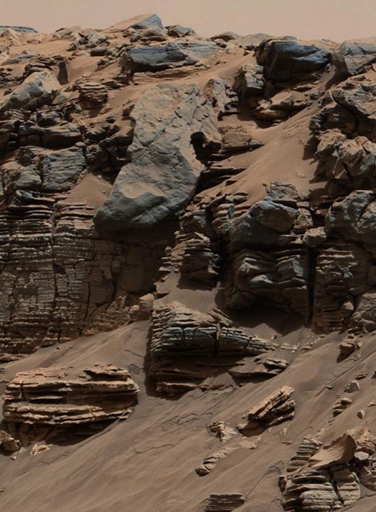 De l'eau sur Mars. | Photo de NASA/JPL-Caltech/MSSS